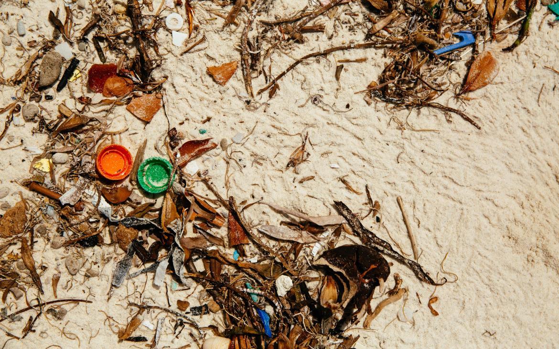 Des déchets de plastique échoués sur la plage de Watamu (Kenya)